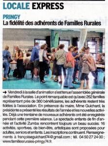 AG 2015 selon le Dauphiné